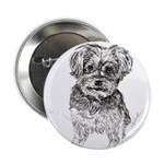 """Yorkshire Terrier"" by M. Nicole van 2.25"" Button"