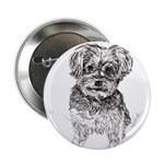 """Yorkshire Terrier"" by M. N 2.25"" Button (10 pack)"