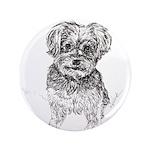 """""""Yorkshire Terrier"""" by M. Nicole van Dam Button"""