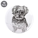 """Yorkshire Terrier"" by M. Ni 3.5"" Button (10 pack)"