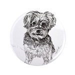 """Yorkshire Terrier"" by M. N 3.5"" Button (100 pack)"