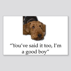 Sulking Airedale Terrier Giving Cute Eyes Sticker