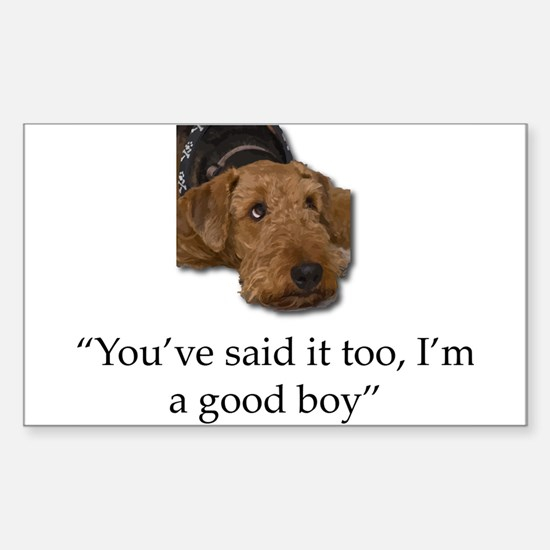 Sulking Airedale Terrier Giving Cute Eyes Decal