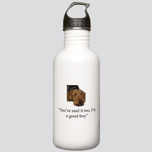 Sulking Airedale Terri Stainless Water Bottle 1.0L