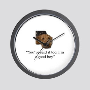 Sulking Airedale Terrier Giving Cute Ey Wall Clock
