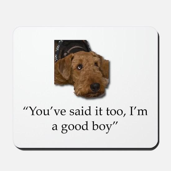 Sulking Airedale Terrier Giving Cute Eye Mousepad
