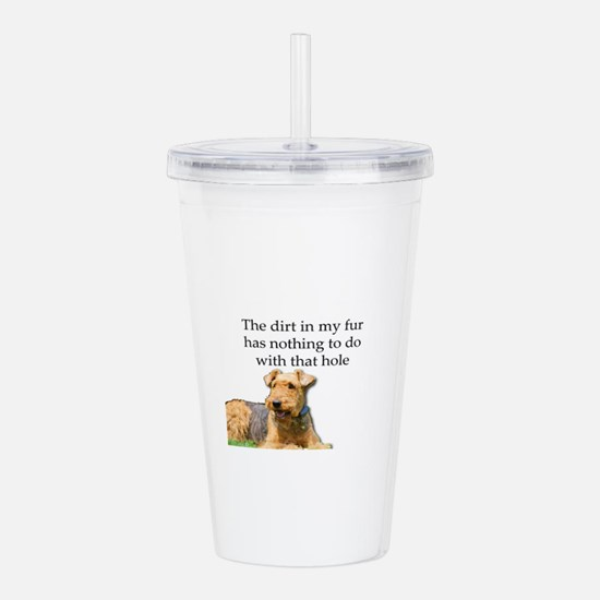 Airedale Sees no conne Acrylic Double-wall Tumbler
