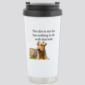 Airedale Sees no connec Stainless Steel Travel Mug