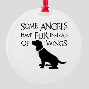BEAGLE ANGEL Round Ornament