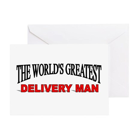 """The World's Greatest Delivery Man"" Greeting Card"