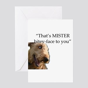 That's MISTER Bitey Face Greeting Cards