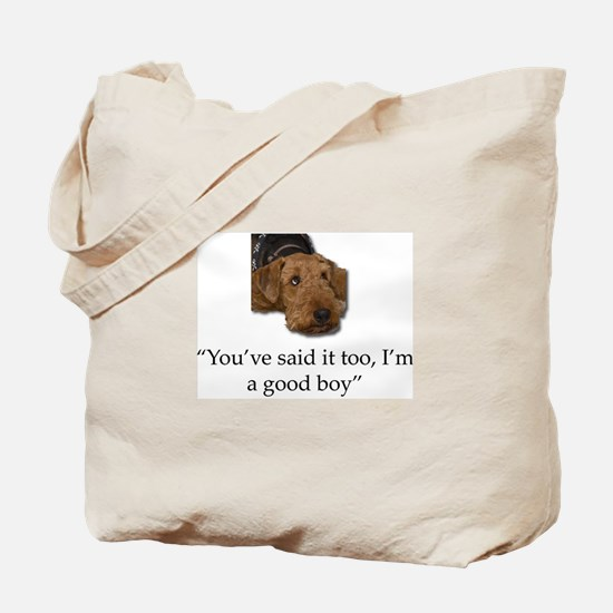 Sulking Airedale Terrier Giving Cute Eyes Tote Bag