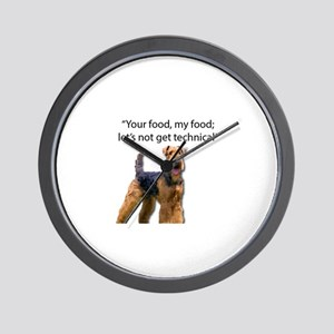 Your Food My Food Who Cares Wall Clock