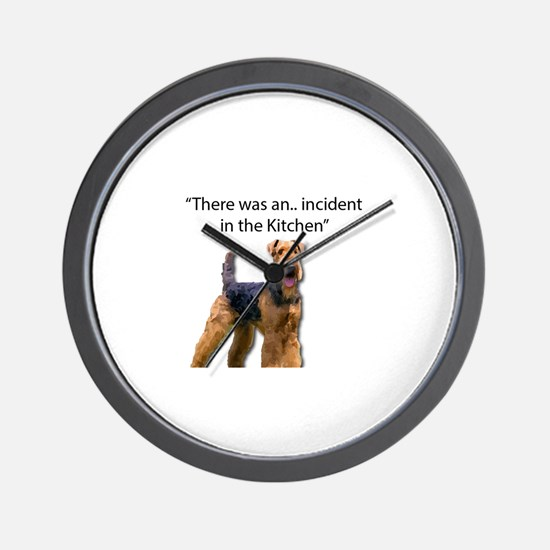 """Airedale Caused """"Incident"""" in Kitchen Wall Clock"""