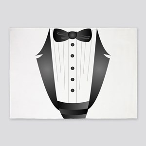 bachelor party groom tuxedo 5'x7'Area Rug