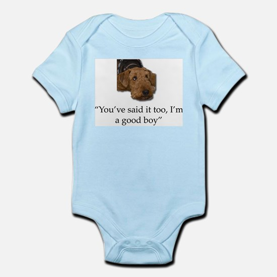 Sulking Airedale Terrier Giving Cute Eye Body Suit