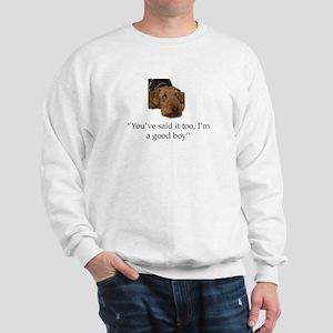 Sulking Airedale Terrier Giving Cute Ey Sweatshirt