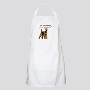 Your Food - My Food Airedale Apron