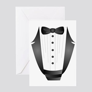 bachelor party groom tuxedo Greeting Cards