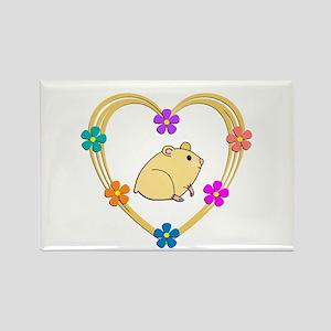Hamster Heart Rectangle Magnet