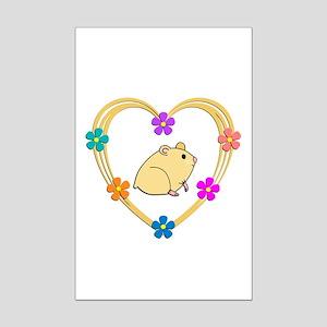 Hamster Heart Mini Poster Print