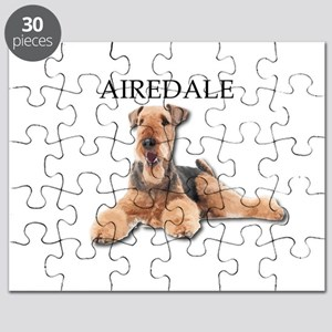 Lazy Airedale Terrier Laying Down Puzzle