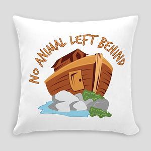 No Animal Left Everyday Pillow