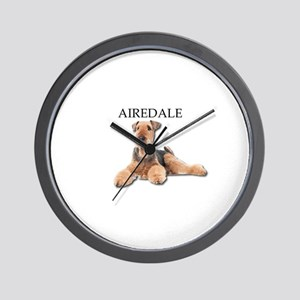 Lazy Airedale Terrier Laying Down Wall Clock