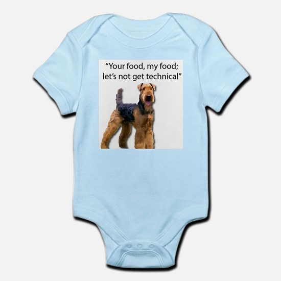 Your Food - My Food Airedale Body Suit