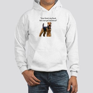 Your Food - My Food Airedale Hooded Sweatshirt