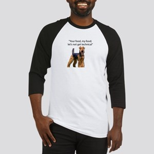 Your Food - My Food Airedale Baseball Jersey