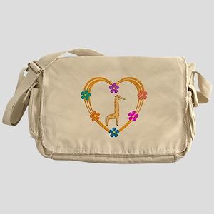 Giraffe Heart Messenger Bag