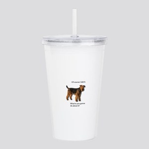 Guilty Airedale Shows Acrylic Double-wall Tumbler
