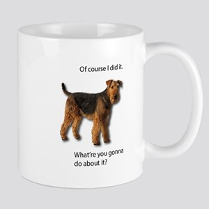 Guilty Airedale Shows No Remorse Mugs