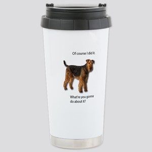 Guilty Airedale Shows N Stainless Steel Travel Mug