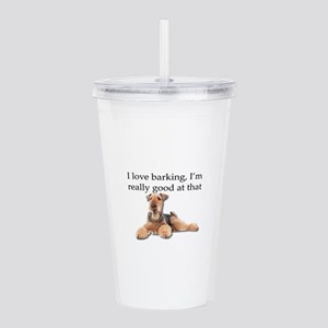 Airedale Terrier is Re Acrylic Double-wall Tumbler