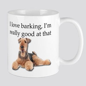 Airedale Terrier is Really good at barking Mugs