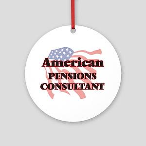 American Pensions Consultant Round Ornament