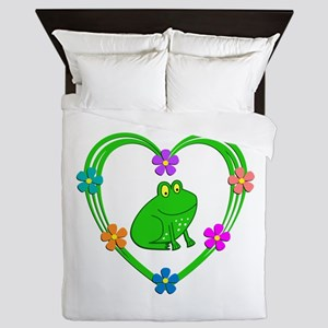 Frog Heart Queen Duvet