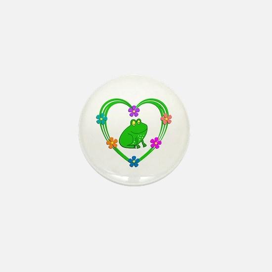 Frog Heart Mini Button