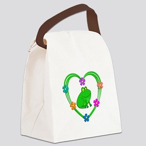 Frog Heart Canvas Lunch Bag