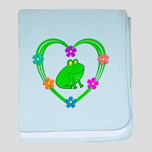 Frog Heart baby blanket