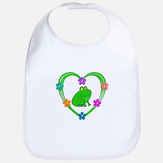 Frog Heart Bib