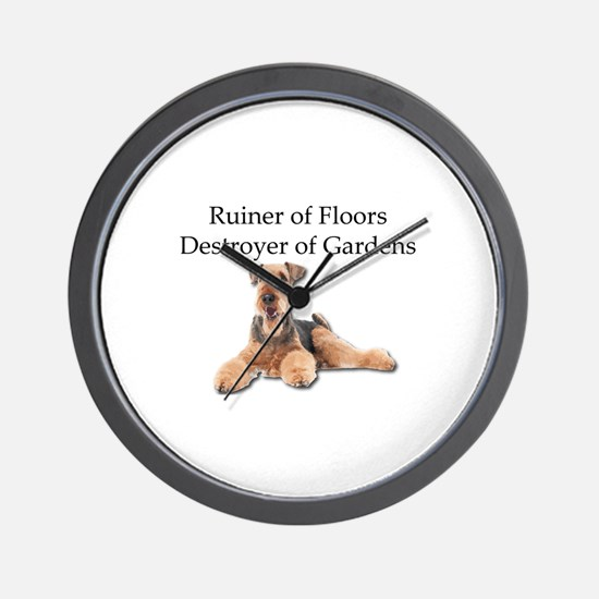 Destroyer of Floors and Gardens Wall Clock
