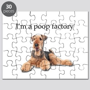 Airedale Terrier is a Poop Factory Puzzle