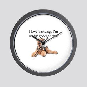 Airedale Terrier is Really good at bark Wall Clock