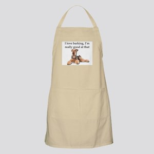 Airedale Terrier is Really good at barking Apron