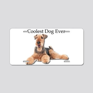 The Airedale Terrier is the Aluminum License Plate