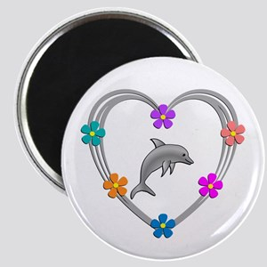 Dolphin Heart Magnet