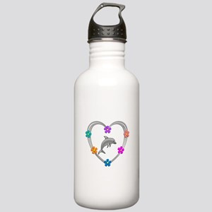Dolphin Heart Stainless Water Bottle 1.0L